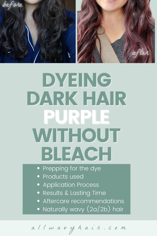 Dyeing Very Dark Brown Hair Purple Without Bleach   Dyeing Dark ...
